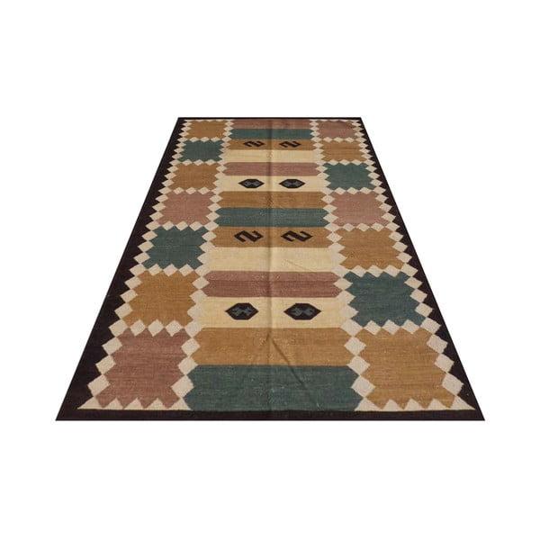 Vlněný koberec Kilim No.  728, 155x240 cm
