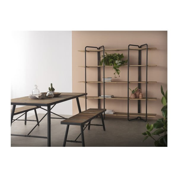 Dřevěný jídelní stůl s kovovými nohami Geese Capri, 150x90cm
