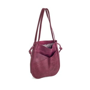 Růžová kožená kabelka Woox Bella Rosea