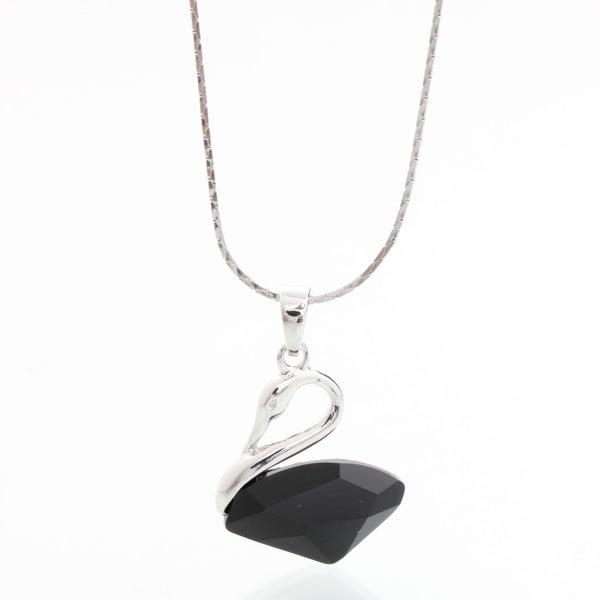 Náhrdelník s krystaly Swarovski Elements Laura Bruni Black Swan