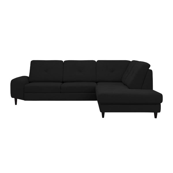 Černá rohová rozkládací pohovka Windsor & Co Sofas, pravý roh Beta