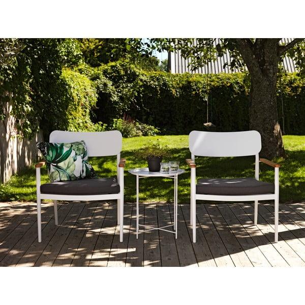 Sada 2 bílých zahradních židlí Brafab Domingo, výška 81cm