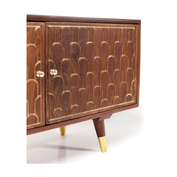TV komoda z mangového dřeva Kare Design Muskat