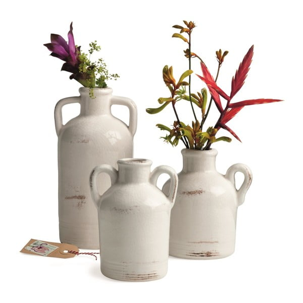 Keramická váza Sil White, 20x10 cm