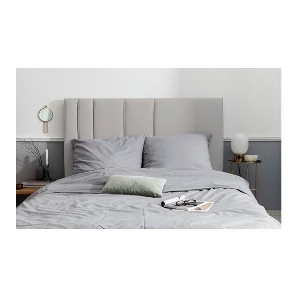 Šedé čelo postele Mazzini Sofas Dahlia, 120 x 180 cm