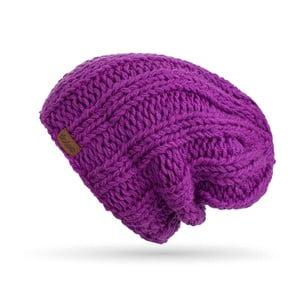 Fialová ručně pletená čepice DOKE Mina