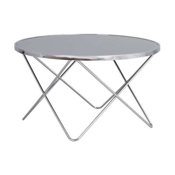 Stoke fém dohányzóasztal üveg asztallappal, ⌀ 85 cm - Folke