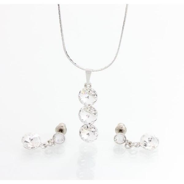 Set náhrdelníku a náušnic Laura Bruni Three Drops