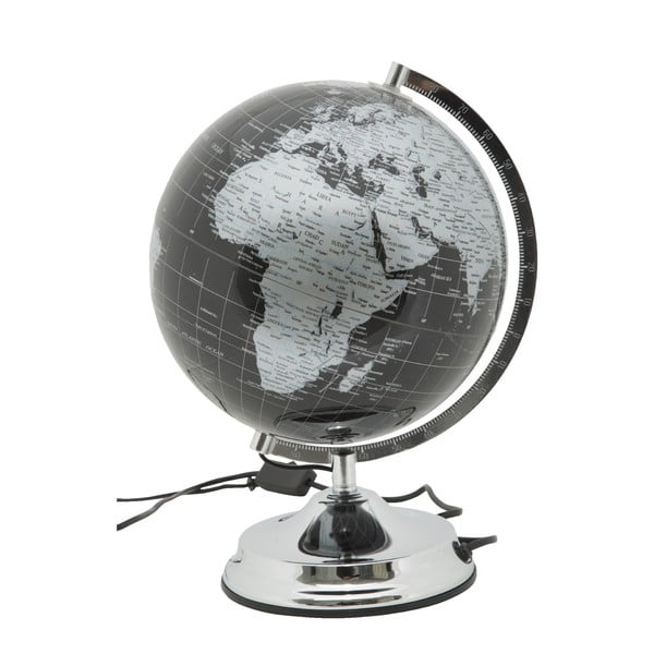 Stolní lampa ve tvaru glogusu Mauro Ferretti Globe Silver, ø25cm