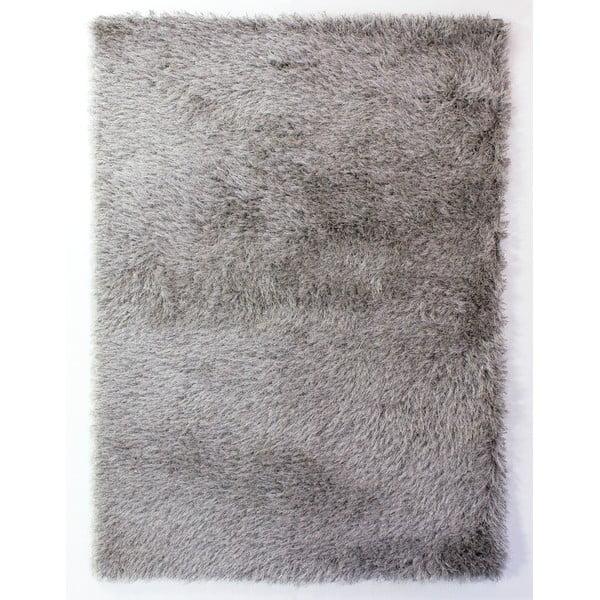 Šedý koberec Flair Rugs Dazzle Silver, 160 x 230 cm