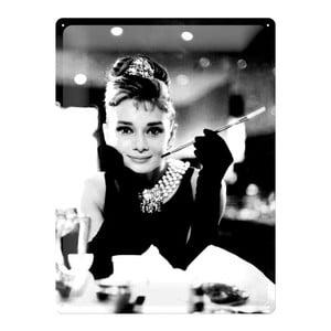 Plechová cedule Audrey Hepburn, 30x40 cm