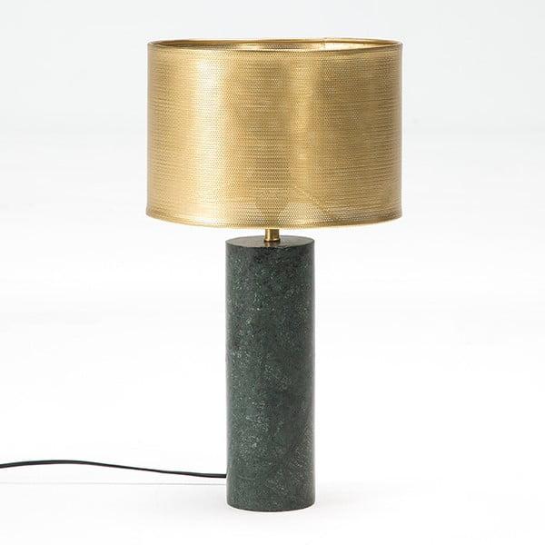 Stolní lampa s mramorovou základnou a detaily v bronzové barvě Thai Natura