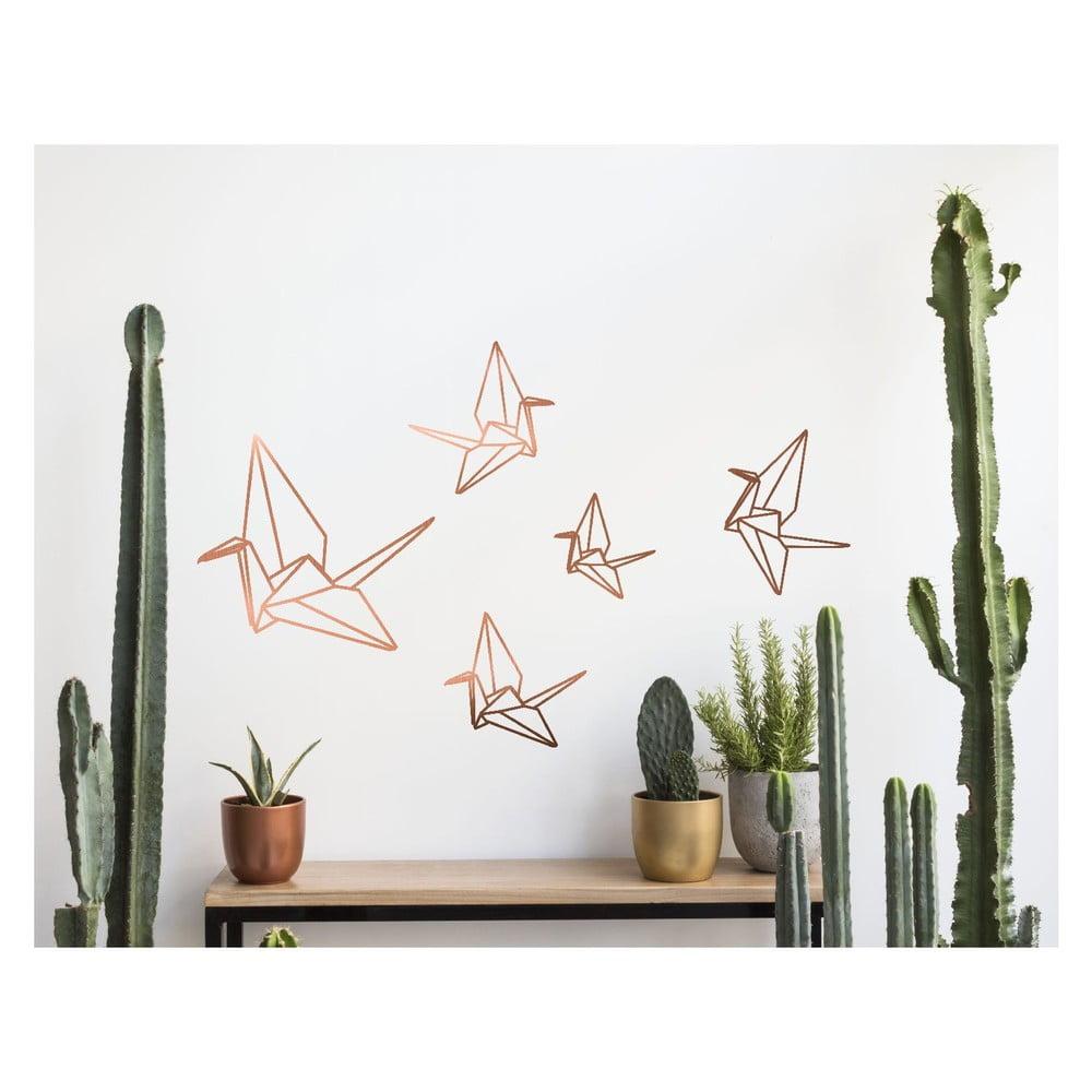 Samolepka na zeď Surdic Origami, 60 x 40 cm