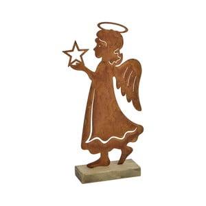 Dekorace v rezavé barvě Ego Dekor Angel, výška28,5cm