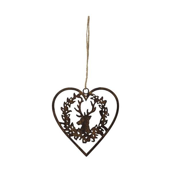Závěsná dekorace ve tvaru srdce Antic Line Deer