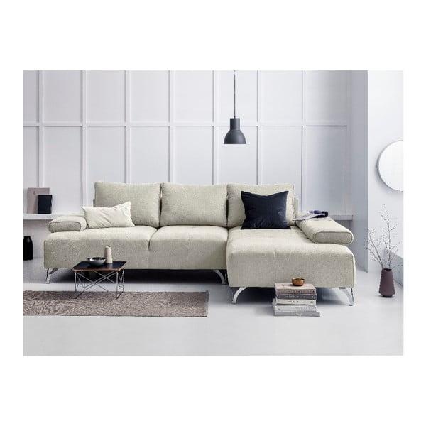 Béžová rohová rozkládací pohovka Windsor & Co Sofas Virgo, pravý roh