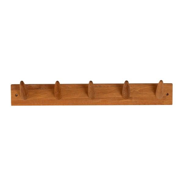 Cuier pentru perete din lemn masiv de stejar Canett Uno, lungime 60cm