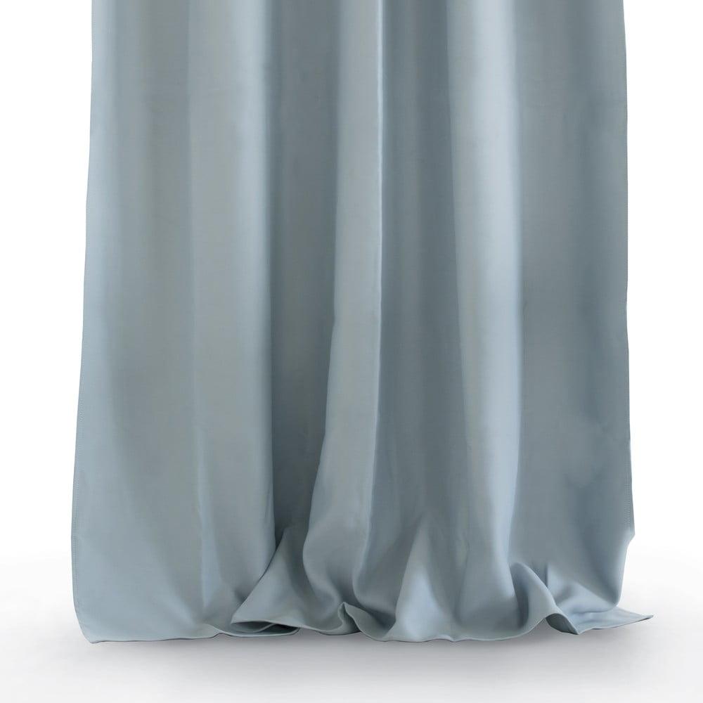 Šedý závěs AmeliaHome Eyelets Silver, 140 x 245 cm