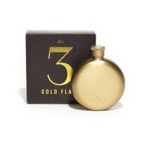 Sticlă metalică de buzunar Men's Society Hip Flask, 90 ml, auriu