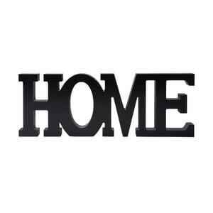 Dřevěná dekorace Home, černá