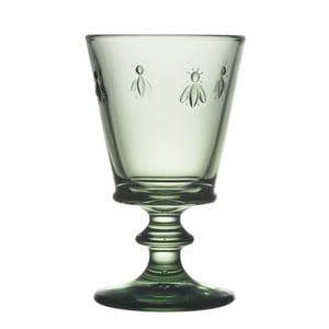 Zelená sklenice na víno La Rochère Abeille, 240 ml