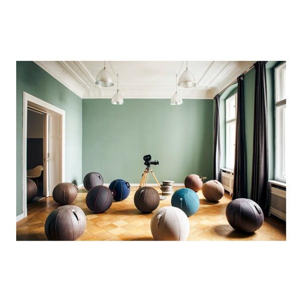 Světle hnědý sedací míč VLUV Stov, Ø60- 65cm