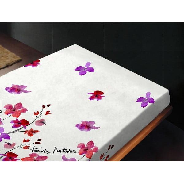 Prostěradlo Silk Rojo, 240x260 cm