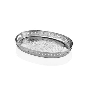 Tavă ovală Mia Sapha, 48 x 34 cm, argintiu