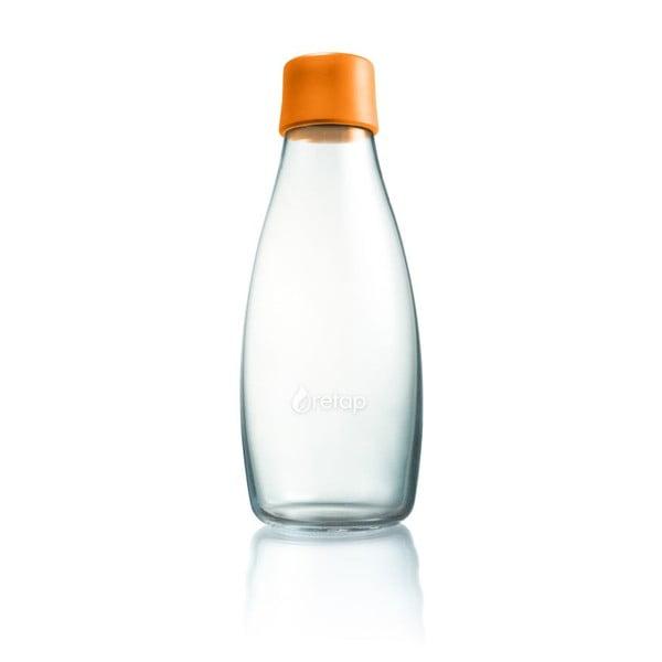 Oranžová skleněná lahev ReTap s doživotní zárukou, 500ml