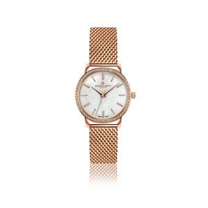 Dámské hodinky s páskem z nerezové oceli v barvě růžového zlata Frederic Graff Pearldessa
