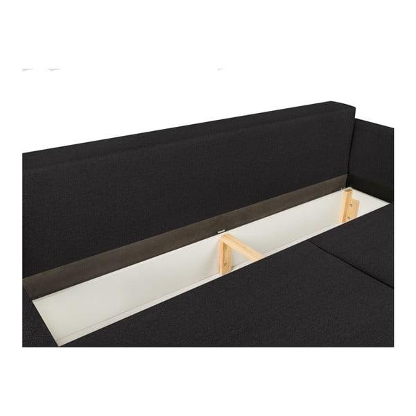 Tmavě šedá třímístná rozkládací pohovka Mel Art Giovanni