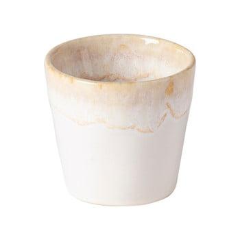 Ceașcă din gresie ceramică pentru espresso Costa Nova Grespresso, alb-roz