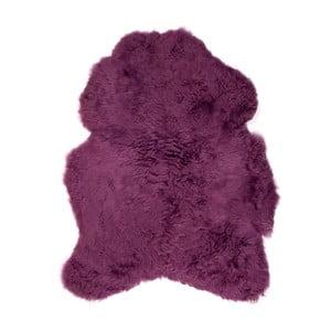 Fialová ovčí kožešina s krátkým chlupem, 90x50cm
