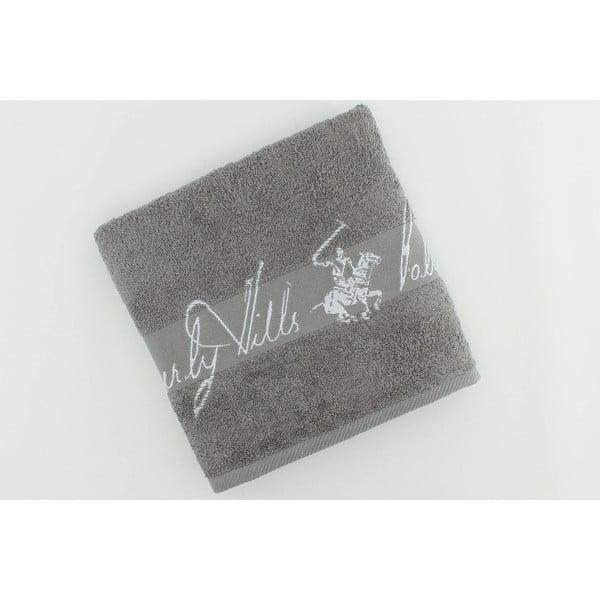 Bavlněný ručník BHPC 50x100 cm, popelavý