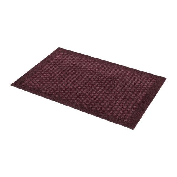 Tmavě červená rohožka tica copenhagen Dot, 75 x 45 cm
