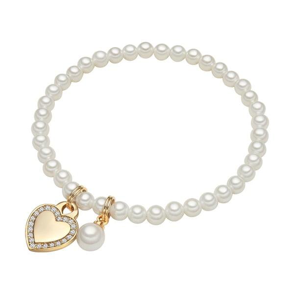 Náramek s bílou perlou Perldesse Rot,⌀0,8xdélka17cm