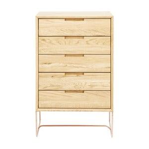 Comodă din lemn de stejar cu 5 sertare Kare Design Modern Line