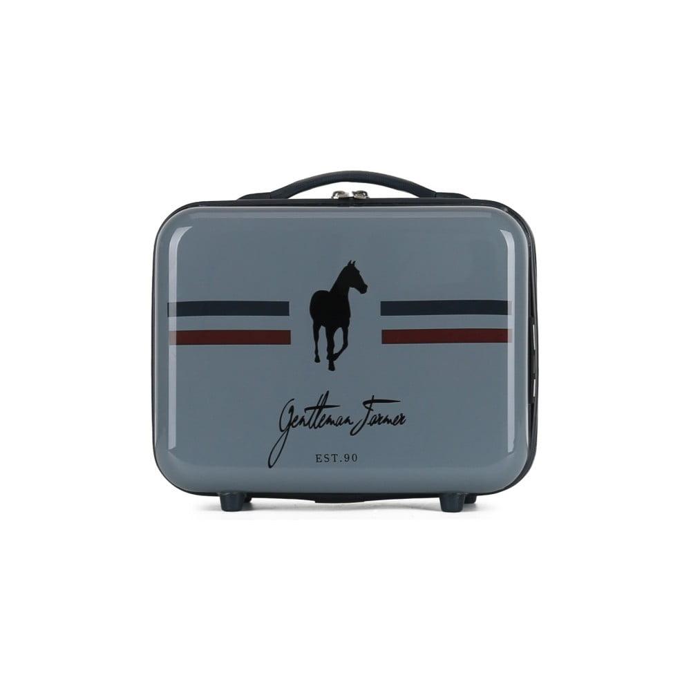 Tmavě šedý cestovní kufřík na kolečkách GENTLEMAN FARMER Vanity Case