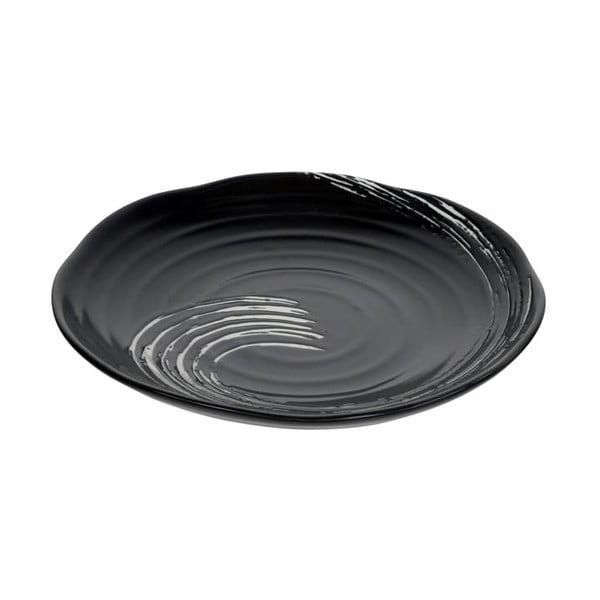 Černý talíř Tokyo Design Studio Maru, ø21,6cm
