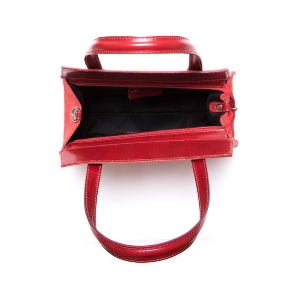 Kožená kabelka Luisa Vannini 8028, červená