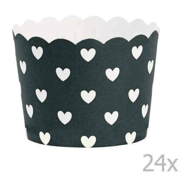 Zestaw 24 papilotek na muffiny Miss Étoile Hearts