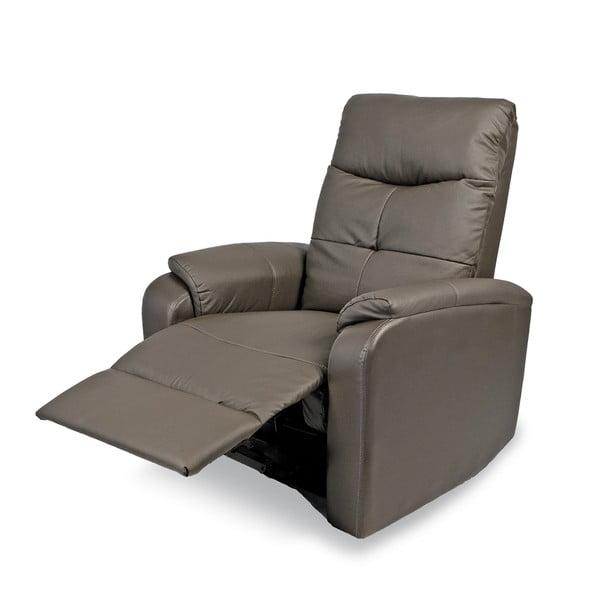 Relaxační křeslo Etos, šedá koženka