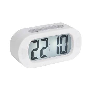 Ceas cu alarmă Karlsson Gummy, alb poza