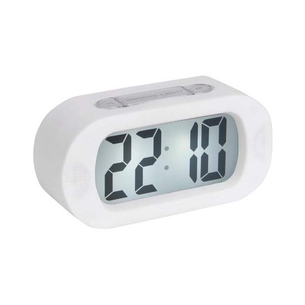 Ceas cu alarmă Karlsson Gummy, alb