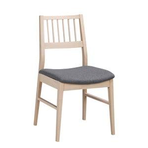 Matně lakovaná dubová židle se šedým sedákem Folke  Hod