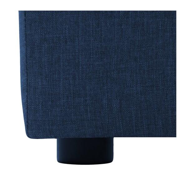 Tmavě modrá dvoumístná modulová pohovka s podnožkou Vivonita Cube