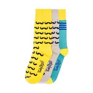Sada 3 párů unisex ponožek Funky Steps Cerel, velikost39/45
