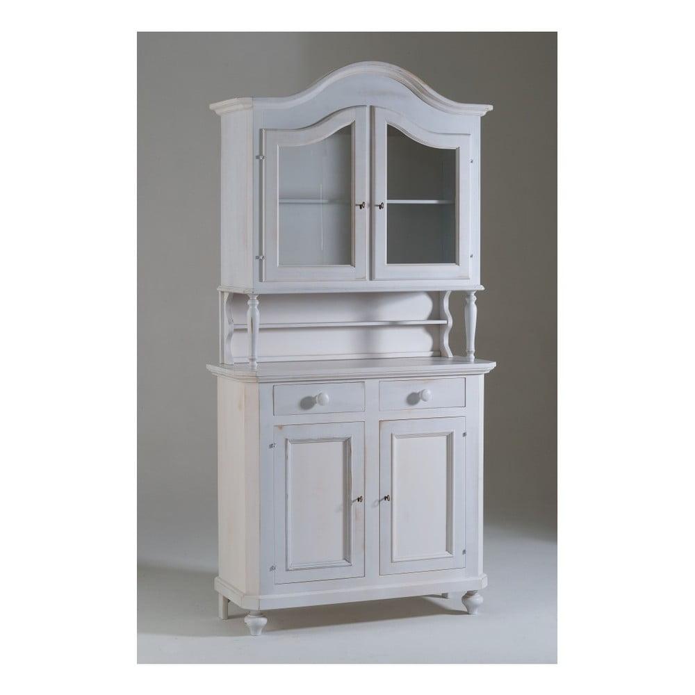 Bílý čtyřdveřový dřevěný příborník Castagnetti Gisele