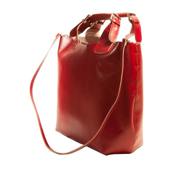 Červená kabelka z pravé kůže Andrea Cardone Edoardo
