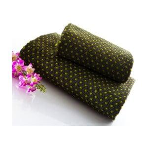 Set dvou ručníků Naila 140x70 a 90x50 cm, zelený